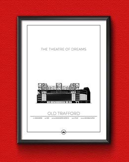 Graphic art prints of Old Trafford - Manchester United