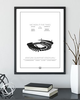 Graphic art prints ofof Atatürk Stadion - Istanbul - Exclusive Edition - Limited 200 prints